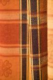 Het patroonstof van het geruite Schotse wollen stof Royalty-vrije Stock Fotografie