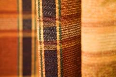 Het patroonstof van het geruite Schotse wollen stof Stock Afbeeldingen