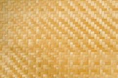 Het patroontextuur en achtergrond van het bamboeweefsel Stock Fotografie