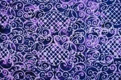 Het patroontextuur van de close-up van Thaise batic stof Royalty-vrije Stock Foto