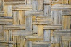 Het patroontextuur van het bamboeweefsel voor achtergrond Retro Houten Muur vi Royalty-vrije Stock Afbeeldingen