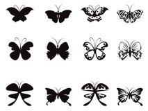 Het patroonvector van de vlinder Royalty-vrije Stock Afbeeldingen