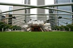 Het Paviljoen Chicago van Pritzker van de Vlaamse gaai Stock Afbeeldingen