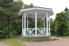 Het paviljoen in het Monrepo-Park in Vyborg Royalty-vrije Stock Foto's