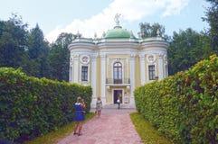 Het Paviljoen Kuskovo van de hittekluis De Architect Blanca Combination van Moskou van verschillende stijlen Royalty-vrije Stock Foto