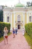 Het Paviljoen Kuskovo van de hittekluis De Architect Blanca Combination van Moskou van verschillende stijlen Stock Foto