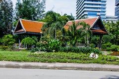 Het paviljoen is oud royalty-vrije stock foto