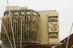 Het Paviljoen van Angola bij Universele Tentoonstelling in Milaan stock foto's