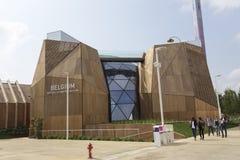 Het paviljoen van België in de middag in Expo, universele expositie stock fotografie