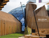 Het paviljoen van België in Expo 2015 royalty-vrije stock foto's