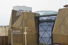 Het paviljoen van België in Expo 2015 stock afbeelding