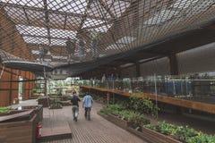 Het paviljoen van Brazilië in Expo 2015 in Milaan, Italië royalty-vrije stock fotografie