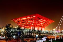 Het paviljoen van China bij Wereld Expo in Shanghai Royalty-vrije Stock Afbeeldingen