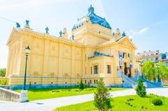 Het paviljoen van de kunst in Zagreb stock foto's