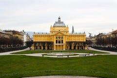 Het paviljoen van de Kunst in Zagreb Stock Afbeelding