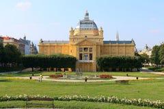 Het paviljoen van de kunst in Zagreb royalty-vrije stock foto