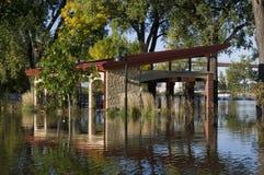 Het Paviljoen van de picknick Onderwater royalty-vrije stock foto