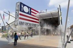 Het paviljoen van de V.S. in Expo, universele expositie over het thema van voedsel stock fotografie
