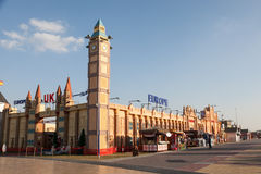Het Paviljoen van Europa bij het Globale Dorp van Doubai Stock Foto's