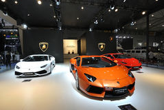 Het paviljoen van Lamborghini Royalty-vrije Stock Foto's