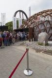 Het paviljoen van Maleisië in Expo 2015 in Milaan, Italië royalty-vrije stock foto