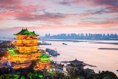 Het paviljoen van Nan-Tchang tengwang in zonsondergang royalty-vrije stock foto
