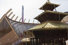 Het Paviljoen van Nepal in Expo 2015 royalty-vrije stock afbeelding