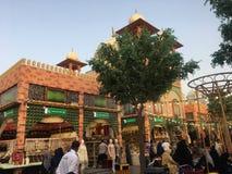 Het paviljoen van Pakistan bij Globaal Dorp in Doubai, de V stock foto