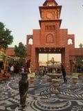 Het paviljoen van Pakistan bij Globaal Dorp in Doubai, de V stock foto's