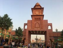 Het paviljoen van Pakistan bij Globaal Dorp in Doubai, de V royalty-vrije stock foto