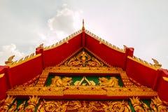 Het Paviljoendak van de close-up Thais Architectuur Stock Afbeeldingen