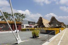 Het paviljoeningang van China in Expo, universele expositie over Th royalty-vrije stock fotografie