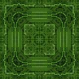 Het PCB gedrukte patroon van de kringsraad motherboard hardware stock illustratie
