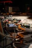 Het pedaal en de kabels van de gitaar Royalty-vrije Stock Afbeeldingen