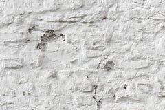 Het pellen witte bakstenen muur grunge textuur Stock Afbeeldingen