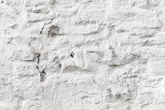 Het pellen witte bakstenen muur grunge textuur Royalty-vrije Stock Afbeelding