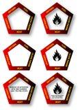 Het Pentagoon van de brand - het Diagram van de Veiligheid stock illustratie