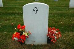 Het Perceel van de begraafplaats Stock Foto's