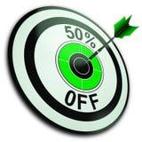 50 het percent van toont Vermindering van Prijs royalty-vrije illustratie