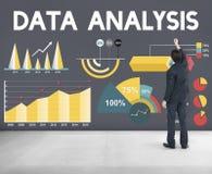 Het Percentage van de bedrijfs gegevensanalyse Grafiekconcept Stock Afbeelding