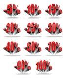 Het percentage van de korting Stock Foto