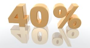 Het percentage van de verhoging royalty-vrije illustratie