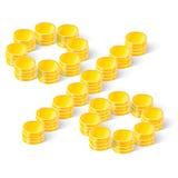 Het percententeken van muntstukken Royalty-vrije Stock Afbeelding