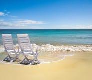 Het perfecte strand plaatsen royalty-vrije stock afbeelding