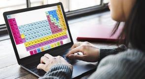 Het periodieke Concept van Mendeleev van de Lijst Chemische Chemie royalty-vrije stock foto