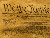Het Perkament van de Grondwet van de V.S. Stock Foto's