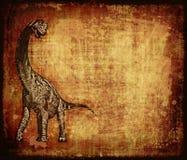 Het Perkament van Grunge van de dinosaurus Stock Afbeeldingen