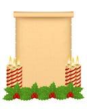 Het perkament van Kerstmis Royalty-vrije Stock Fotografie