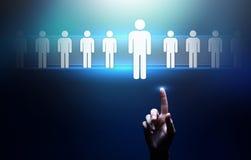 Het personeel, u-beheer, Rekrutering, Talent wilde, Werkgelegenheids Bedrijfsconcept stock afbeelding