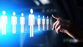 Het personeel, u-beheer, Rekrutering, Talent wilde, Werkgelegenheids Bedrijfsconcept stock afbeeldingen